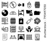 storage icons. set of 25...   Shutterstock .eps vector #795497050