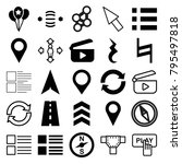 navigation icons. set of 25... | Shutterstock .eps vector #795497818