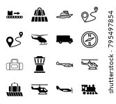 trip icons. set of 16 editable... | Shutterstock .eps vector #795497854