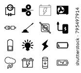 electricity icons. set of 16... | Shutterstock .eps vector #795497914