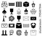post icons. set of 25 editable... | Shutterstock .eps vector #795497944