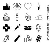 treatment icons. set of 16... | Shutterstock .eps vector #795498058