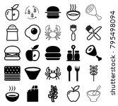eat icons. set of 25 editable...   Shutterstock .eps vector #795498094