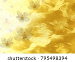 golden sparkling cherry... | Shutterstock . vector #795498394