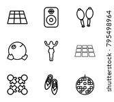 dance icons. set of 9 editable... | Shutterstock .eps vector #795498964