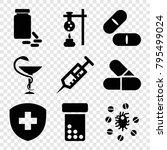 pharmacy icons. set of 9... | Shutterstock .eps vector #795499024