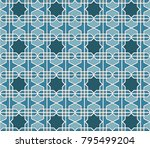 abstract vintage geometric... | Shutterstock .eps vector #795499204