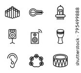 acoustic icons. set of 9...   Shutterstock .eps vector #795499888