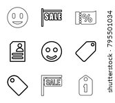 offer icons. set of 9 editable... | Shutterstock .eps vector #795501034