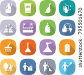 flat vector icon set   cleanser ... | Shutterstock .eps vector #795501670