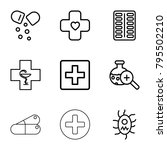 pharmacy icons. set of 9... | Shutterstock .eps vector #795502210