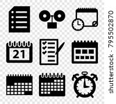 reminder icons. set of 9...   Shutterstock .eps vector #795502870