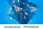 abstract background blue... | Shutterstock . vector #795503020
