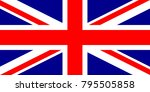 united kingdom flag with... | Shutterstock .eps vector #795505858