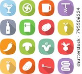 flat vector icon set   cocktail ...   Shutterstock .eps vector #795506224