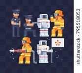 different men's profession set  ... | Shutterstock .eps vector #795518053