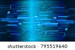binary circuit board future... | Shutterstock .eps vector #795519640