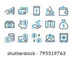 money related line icons.... | Shutterstock .eps vector #795519763