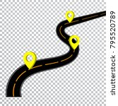 winding road isolated... | Shutterstock .eps vector #795520789