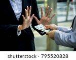 concept of no bribe stop...   Shutterstock . vector #795520828
