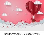 valentine's day concept men and ... | Shutterstock .eps vector #795520948