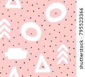 cute abstract seamless pattern... | Shutterstock .eps vector #795523366
