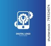 logo design abstract digital... | Shutterstock .eps vector #795524074