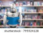 3d rendering humanoid robot... | Shutterstock . vector #795524128