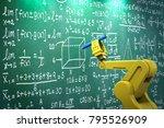 3d rendering robot arm learning ... | Shutterstock . vector #795526909