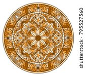 illustration in stained glass... | Shutterstock .eps vector #795527560