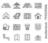 roof  housetop construction... | Shutterstock .eps vector #795529006