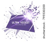 ultra violet color explosion.... | Shutterstock .eps vector #795530200