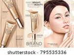 trendy foundation ads ... | Shutterstock .eps vector #795535336