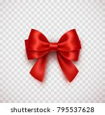 bow isolated on transparent... | Shutterstock .eps vector #795537628