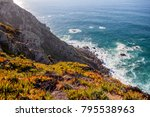 beautiful ocean landscape ... | Shutterstock . vector #795538963