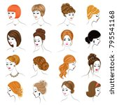 collection of female... | Shutterstock .eps vector #795541168