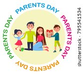 banner dedicated to parents'... | Shutterstock . vector #795541534