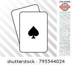 peaks suit playing cards... | Shutterstock .eps vector #795544024