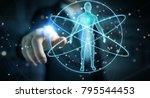 businessman on blurred... | Shutterstock . vector #795544453