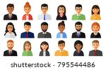 group of working people men and ... | Shutterstock .eps vector #795544486