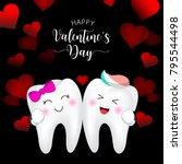 cute cartoon tooth character ...   Shutterstock .eps vector #795544498