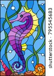 illustration in stained glass...   Shutterstock .eps vector #795545683
