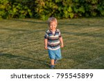 portrait of toddler child... | Shutterstock . vector #795545899