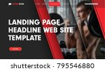 design landing page for the... | Shutterstock .eps vector #795546880