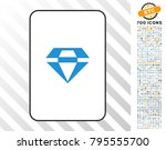 gem playing card pictogram with ... | Shutterstock .eps vector #795555700