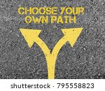 choose your own path | Shutterstock . vector #795558823