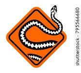 warning sign of attention... | Shutterstock .eps vector #795566680