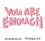 girl power quote made in vector.... | Shutterstock .eps vector #795566719