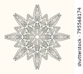 decorative mandala. vector... | Shutterstock .eps vector #795568174