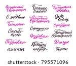 russian lettering for online...   Shutterstock .eps vector #795571096